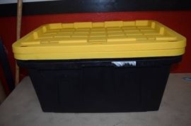 2 Tough Box Construction Grade Storage Containers