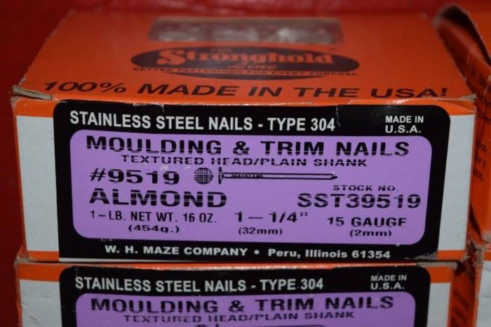 12 Boxes Stronghold Stainless Steel Nails