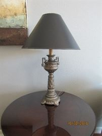 "30"" METAL LAMPS  A PAIR"