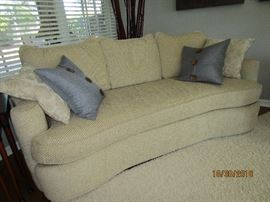 BERNHARDT CONTEMPORARY SOFA TAN FABRIC