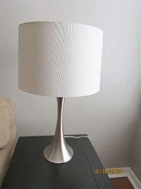 2 CONTEMPORARY CHROME LAMP