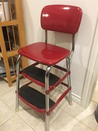 Red Retro Style Counter Chair