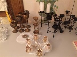 Wide assortment of candle stick holders