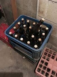 Vintage German beer bottles