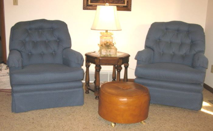 Blue Mr. and Mrs. Chairs