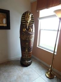 """King Tut"" storage cabinet with interior shelves"