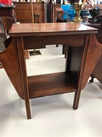 Antique Phone/Magazine Table