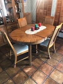 5 piece dining set w/leaf for table
