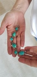 Sterling and turquoise bracelet. $150
