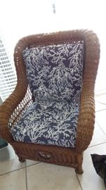Rattan Chair with new cushions