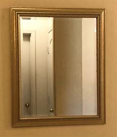Gold Beveled Mirror