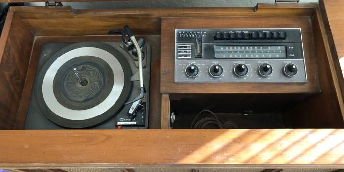 Sylvania Stereo and Garrad Turntable Console