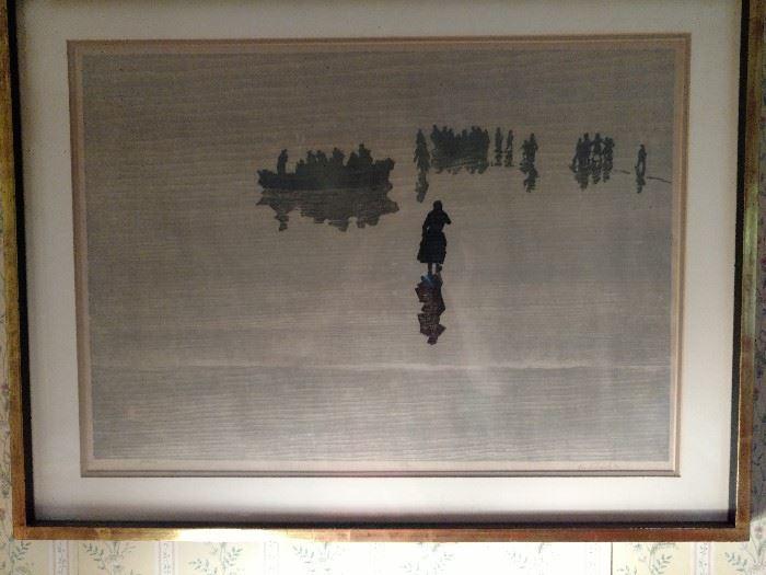 "Artist Paul Shaub, ""Return"" 18/210.  wood/block print"