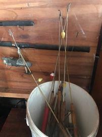 Ice fishing poles