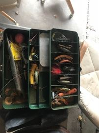 Vintage fishing lures and equipmet