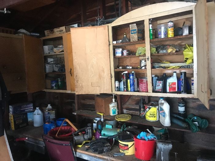 Lots of automotive and hardware stuff including a laith and air compressor