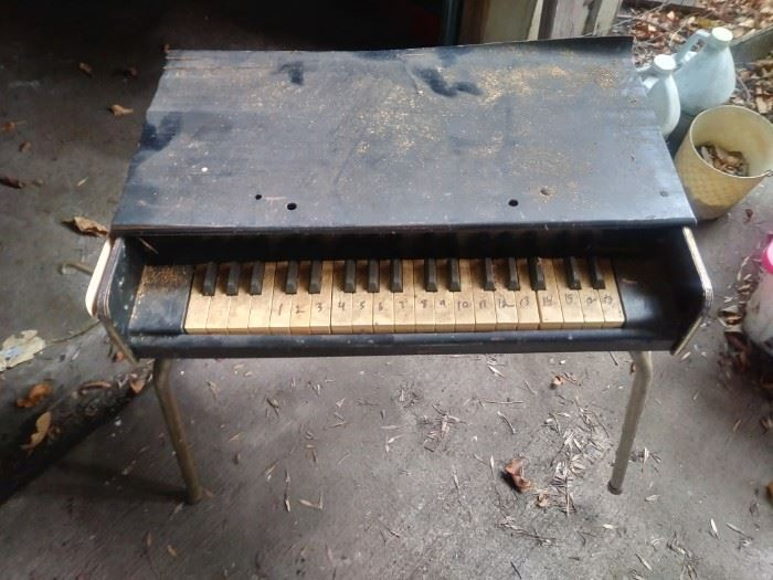 Antique child's piano