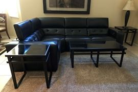 Z-Gallerie Reclining Black Sectional (Like New)