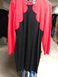 1980's black and red dress