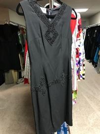 1960's black cocktail dress