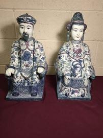 003 Asian Royal Couple Porcelain