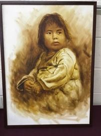 004 Painting Native American Child