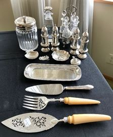 Sterling Pieces including Tiffany and C. 1898 Sheffield