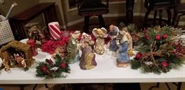 A large assortment of Christmas decorations!