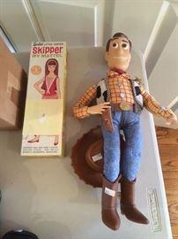 Vintage Skipper and Talking Woody