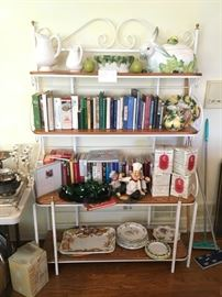 Iron Bakers Rack and More Cookbooks