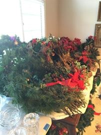 Lots of Wreaths and Garland