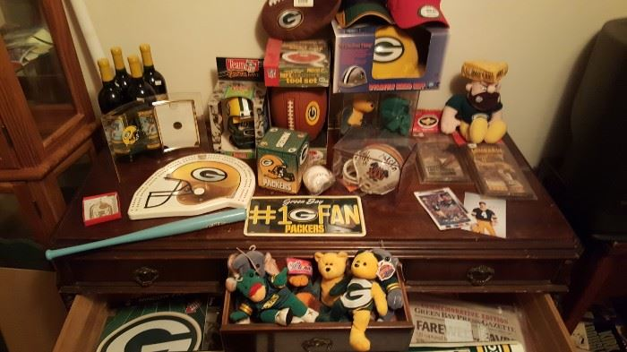 Everything Packers ,wine ,helmets ,