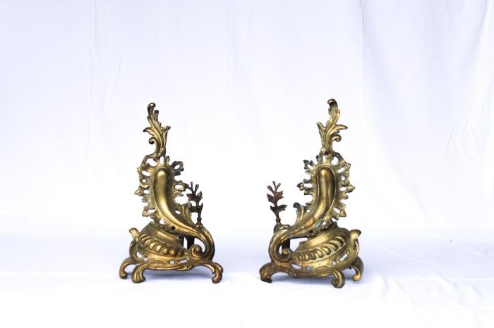 Lovely pair of Andirons