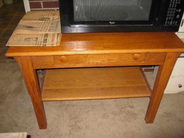 Oak library table desk