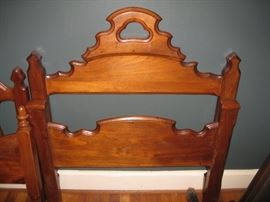 One of twin beds