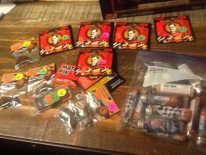 guitar strings and nascar lighters, new