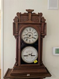 Antique Waterbury Calendar Clock