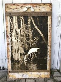 "Artist Deborah Mitchell:  ""Woodstork at Turner River Road"" Photograph and Mixed Media"