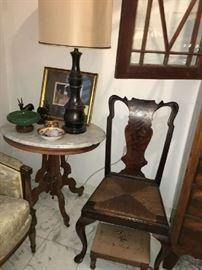 Queen Anne Rush Seat Chair. Gorgeous.