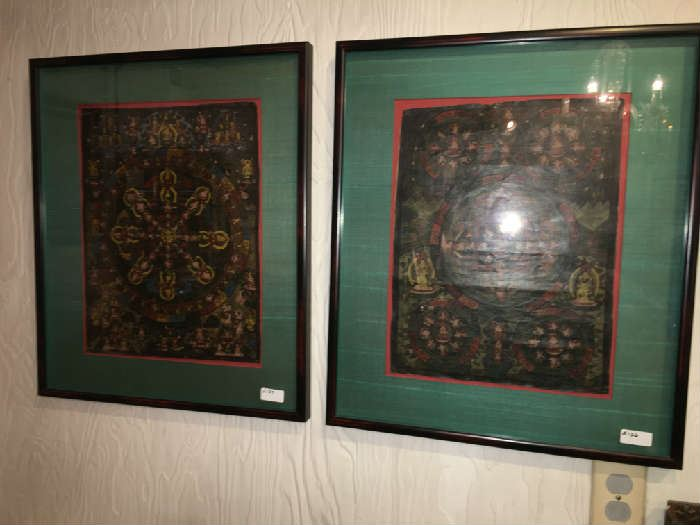 Pairs of Indonesian Thangkas.