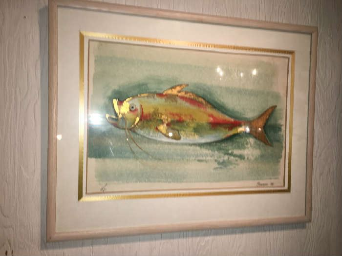 Watercolor painting of Fish.