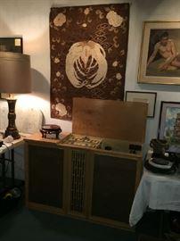 Stromberg Carlson Mid Century Stereo and Radio. Garrard Turntable. FABULOUS SOUND.