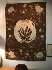 Exquisite Antique Embroidered Chinese Silk Tapestry