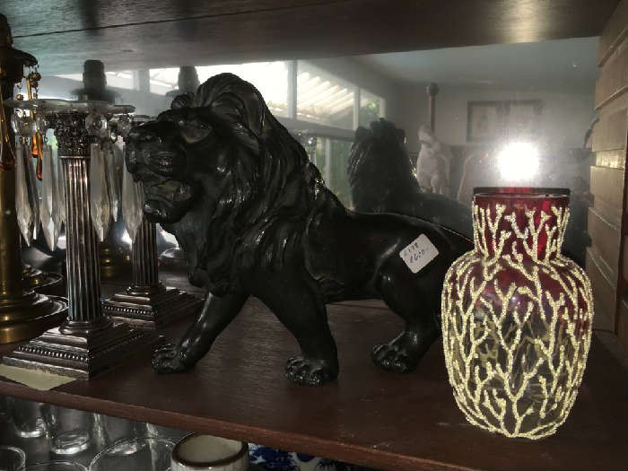 Japanese Bronze Lion