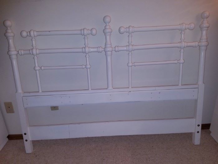 Double bed with frame (not shown)