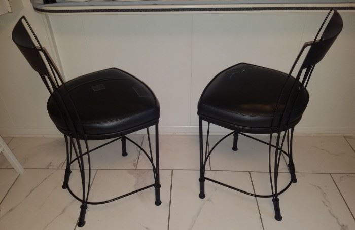 Vintage bar stools (seats need to be re-covered by otherwise in great condition)