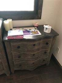 One of 2 bedside tables - set is $2,000