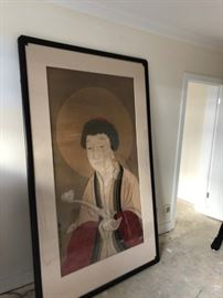 Wu Daozi - Chinese Antique Mural - Framed in the mid 1950's - Panel is Antique $5,000