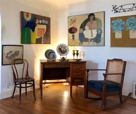 All wall art is John Fassbinder oil on canvas
