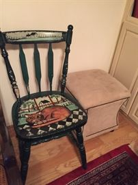 Painted Chair.